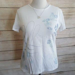 Ralph Lauren RLL  Beaded Graphic Tshirt
